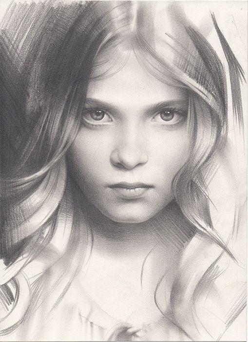 Portrait of a girl amazing sketchbook art by andrey belichenko