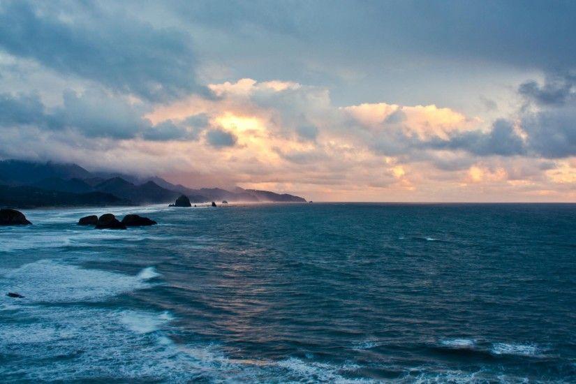 Oceans Coast Sunset Sea Rocks Clouds Seascape Beautiful Desktop Wallpaper Ocean Scenes For Hd 16 Ocean Wallpaper Sunset Wallpaper Ocean Scenes