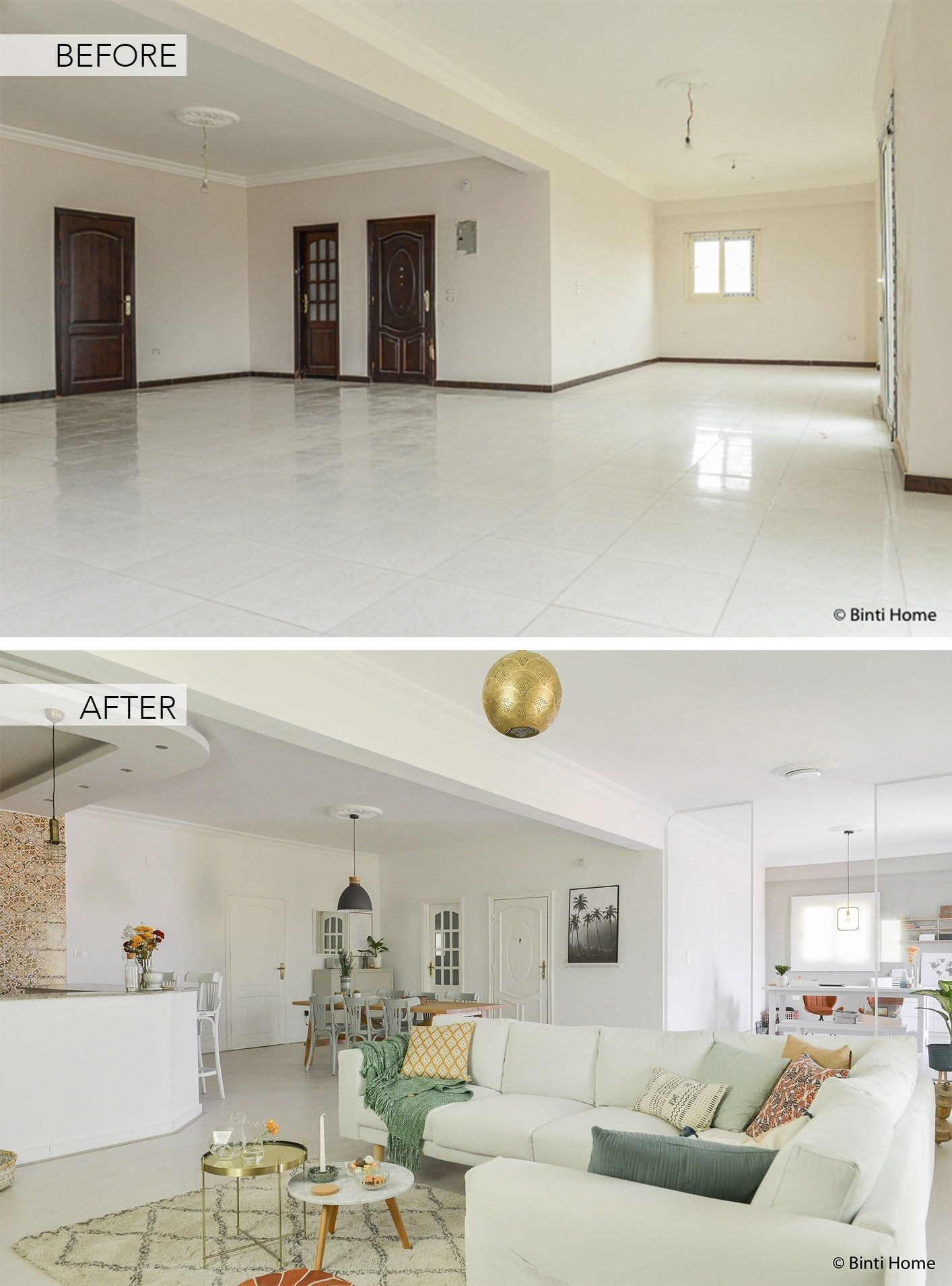 Home Renovation before and after Our Cairo Home living room ...