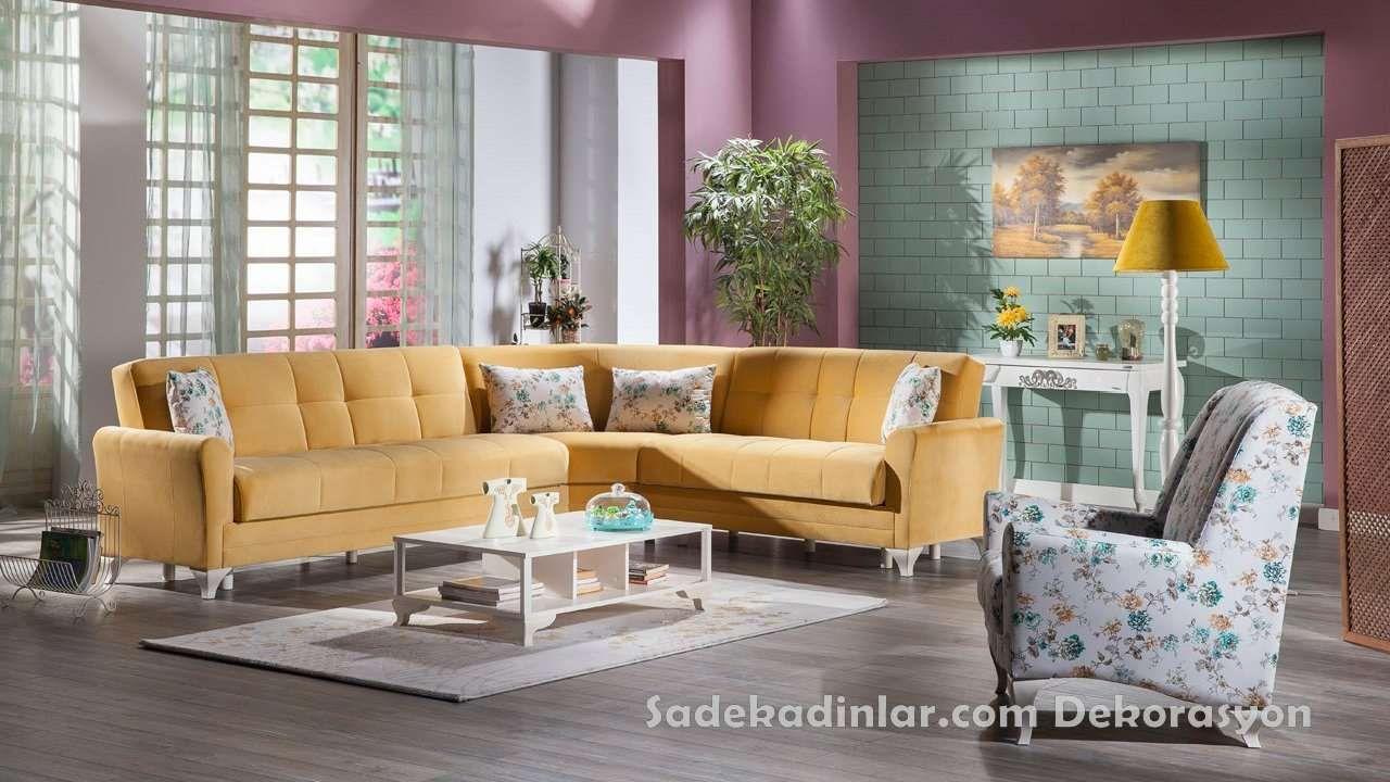 Silinebilir Kumas Ozellikli Yatak Ve Baza Olabilen Kose Takimlari Koltuk Takimlari Sofa Set Oturma Odasi Tasarimlari Mobilya Fikirleri Mobilya