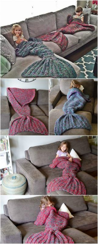 Free Crochet Pattern: Adult-Sized Mermaid Lapghan to Keep You Warm ...