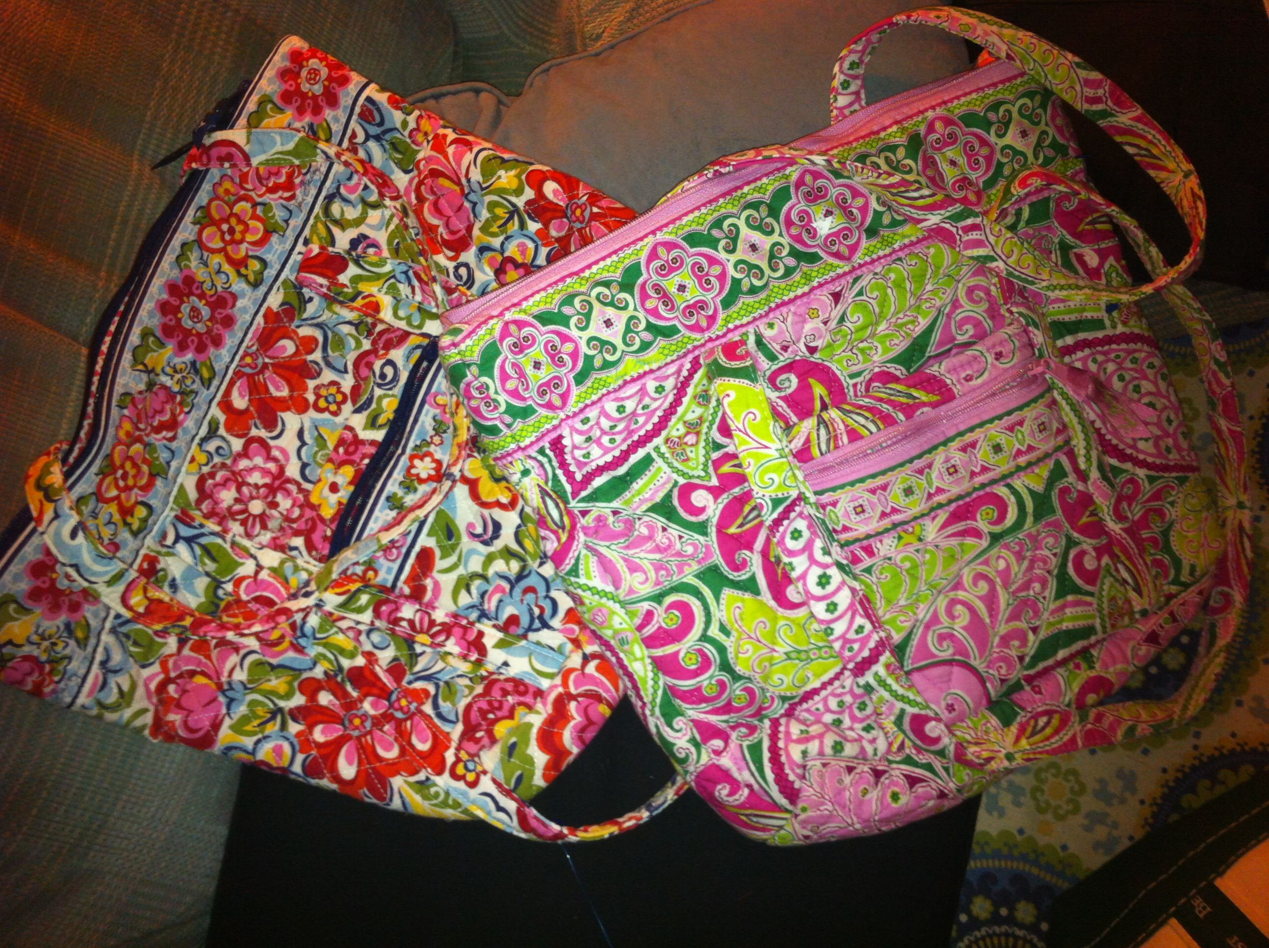 Vera Bradley bags found at Goodwill. Tags were in the inside pockets of the bags. Bought them for $14.99 each