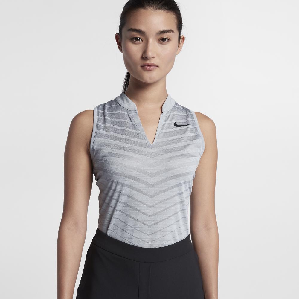 Nike Zonal Cooling Womens Sleeveless Golf Polo Shirt Size