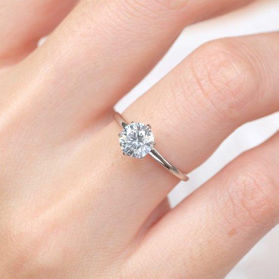 1 Ct Moissanite Ring Moissanite Engagement Ring Moissanite Etsy In 2020 Detailed Engagement Ring Engagement Rings Sale Engagement Rings