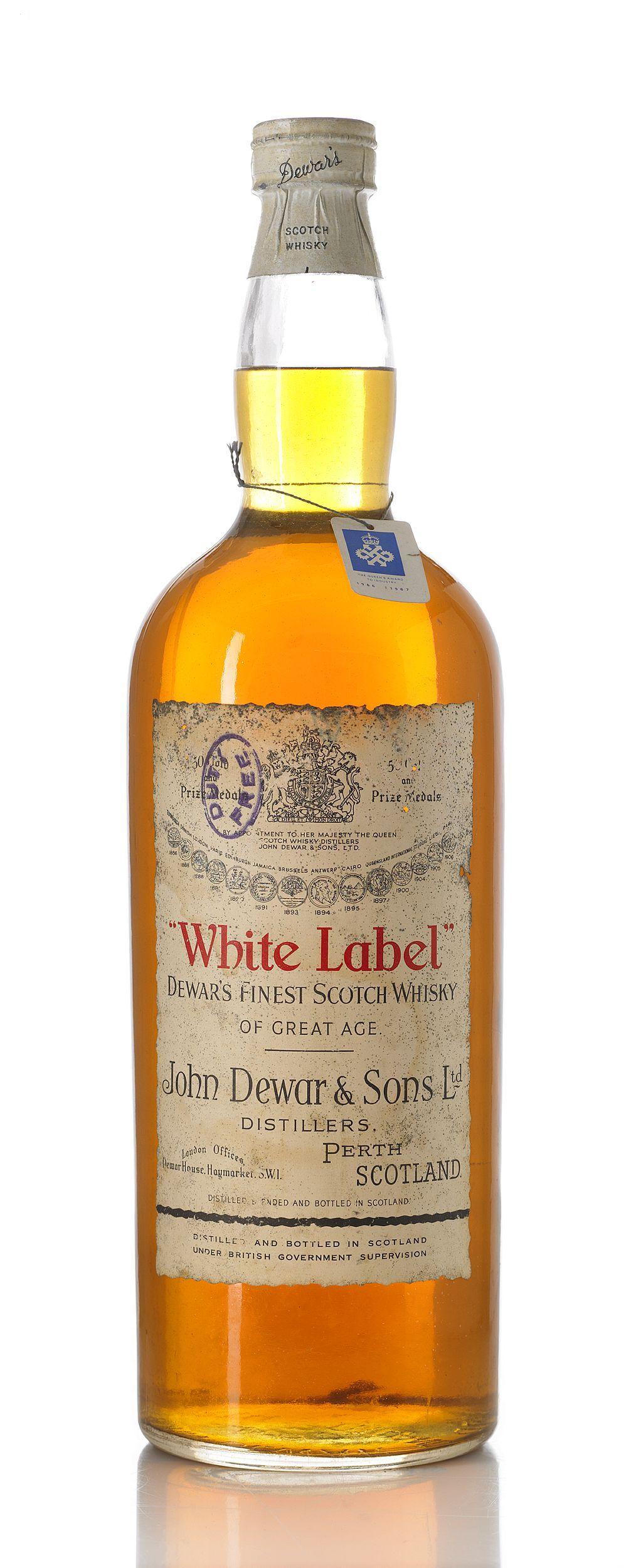 Old Style White Label John Dewar Sons Met Afbeeldingen