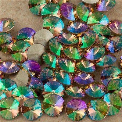 cf9aee0d2 Six Swarovski Crystal SS39 1122 Rivoli Crystal Purple Haze (001 PH ...
