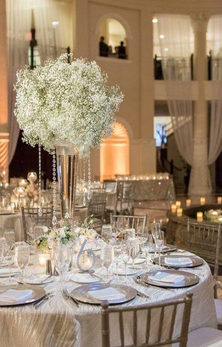 Super Wedding Centerpieces Babys Breath Mercury Glass 48+ Ideas Super Wedding Centerpieces Babys Br