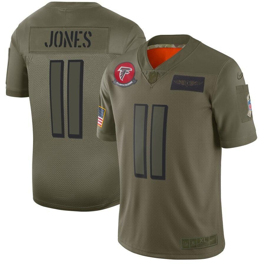 Men S Atlanta Falcons Julio Jones Camo 2019 Salute To Service Limited Jersey Salute To Service New England Patriots Patriots Julian Edelman