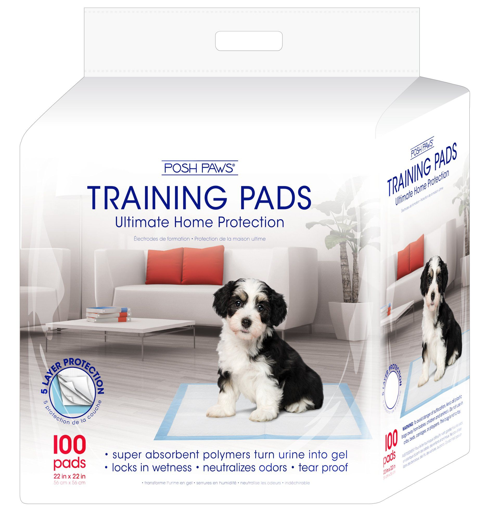 Pet Training and Puppy Pads, Posh Paws, 100Count Puppy