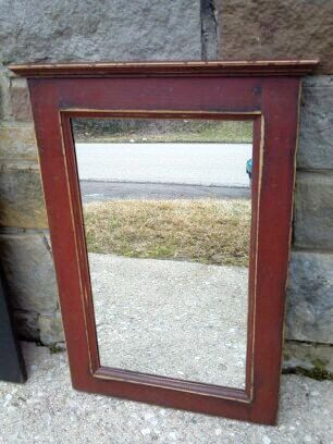 This Listing Is For One Of Our Handcrafted Country Bath Mirrors The Frame Measures 16 Wide By 24 Tall Top Trim 17