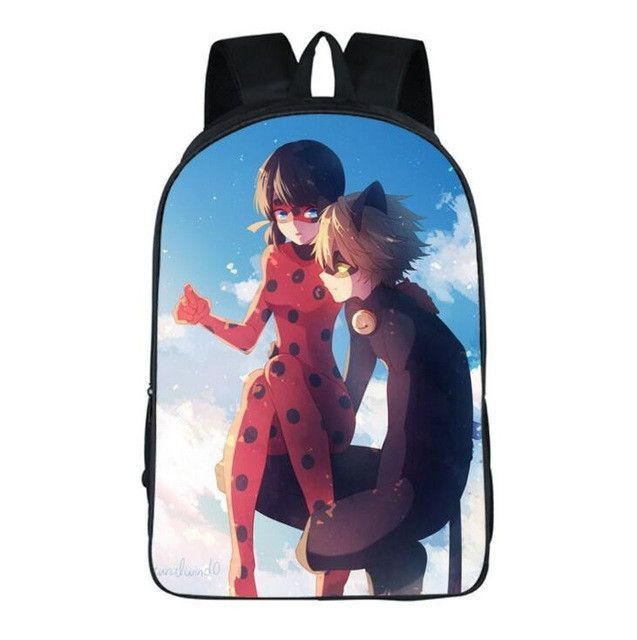 Anime Printing School Bag Miraculous Ladybug Backpack.