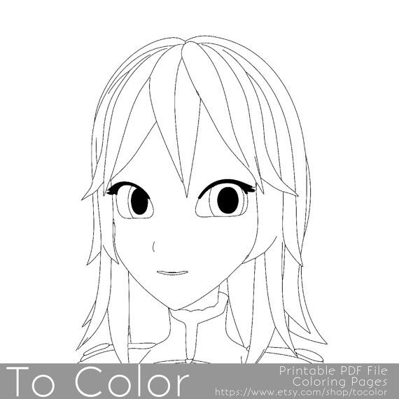 610 Top Anime Girl Coloring Pages Pdf , Free HD Download