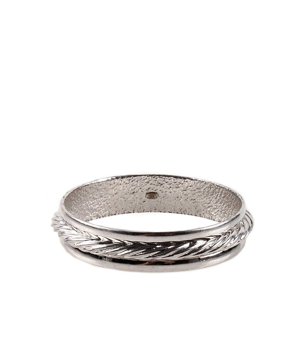 Chanel Pre-owned Chanel Silver Rope Bangle | BLUEFLY up to 70% off designer brands