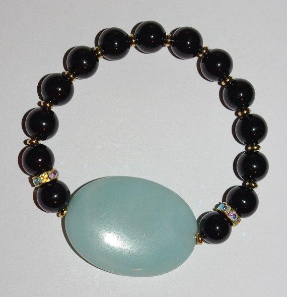 Elegant Handcrafted Stretch Bracelet by EASTandWESTJewelry on Etsy, $14.95