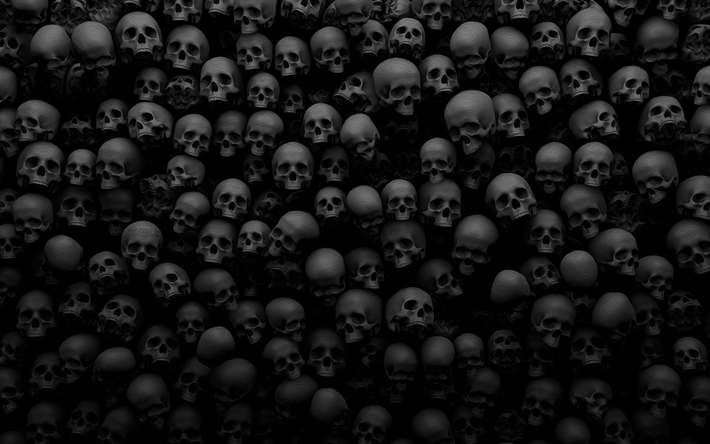 Download Wallpapers Skulls Texture Scary Horror Skulls Besthqwallpapers Com Scary Wallpaper Black Skulls Wallpaper Skull Wallpaper