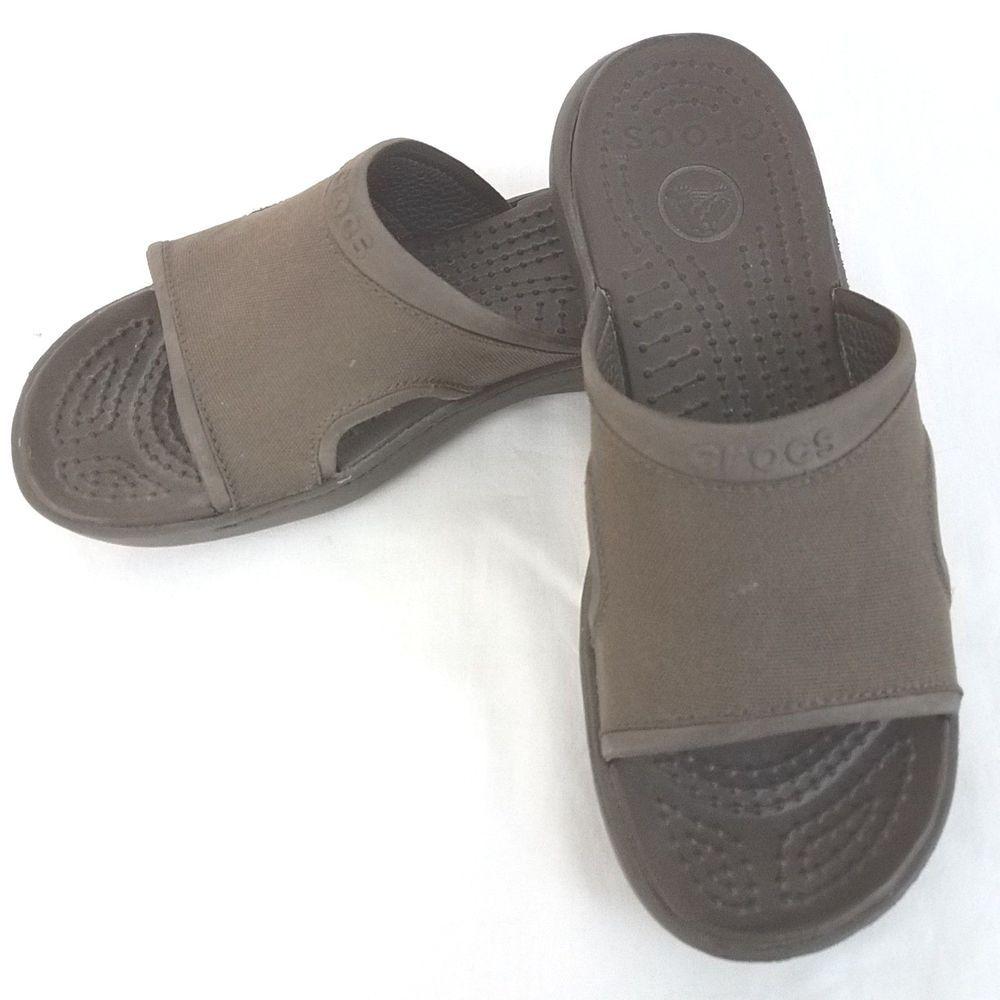 Crocs Slides Size 8 Men's Canvas Top