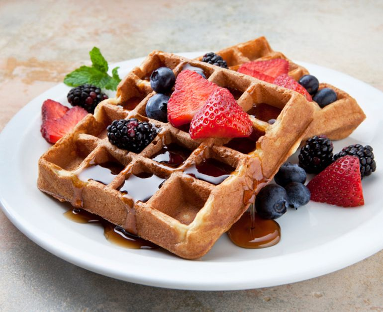 Light Waffles | Recipe (With images) | Sour cream recipes ...
