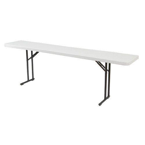 National Public Seating 6 Rectangular Narrow Folding Table Blow