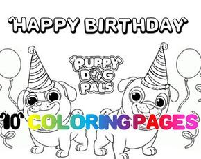 Coloring Pages Puppy Dog Pals Printables Puppy Puppies Party Favor
