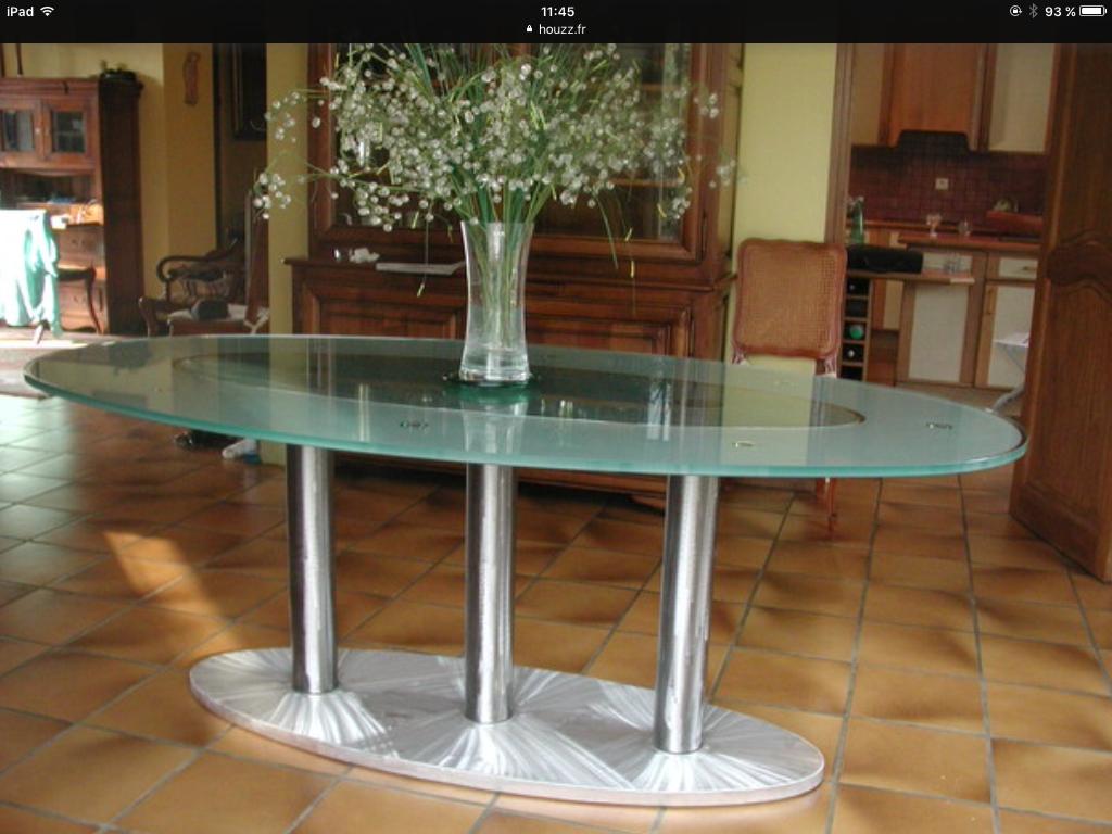 Atelier Du Luminaire Toulouse table ovale en verre atelier in vitro toulouse 0614795951