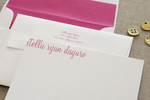 custom stationery and cards by walnut paperie - Personalized Stationery Cards