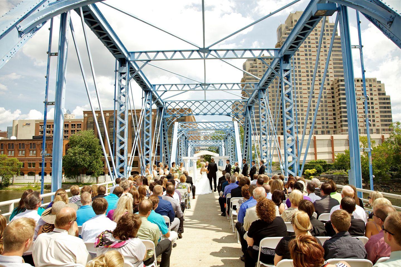 Grand Rapids Wedding On Blue Bridge