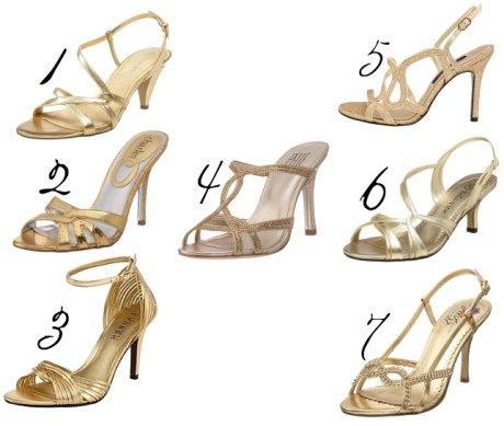 gold bridesmaid shoes - Shoes Click | My lovely shoes | Pinterest ...