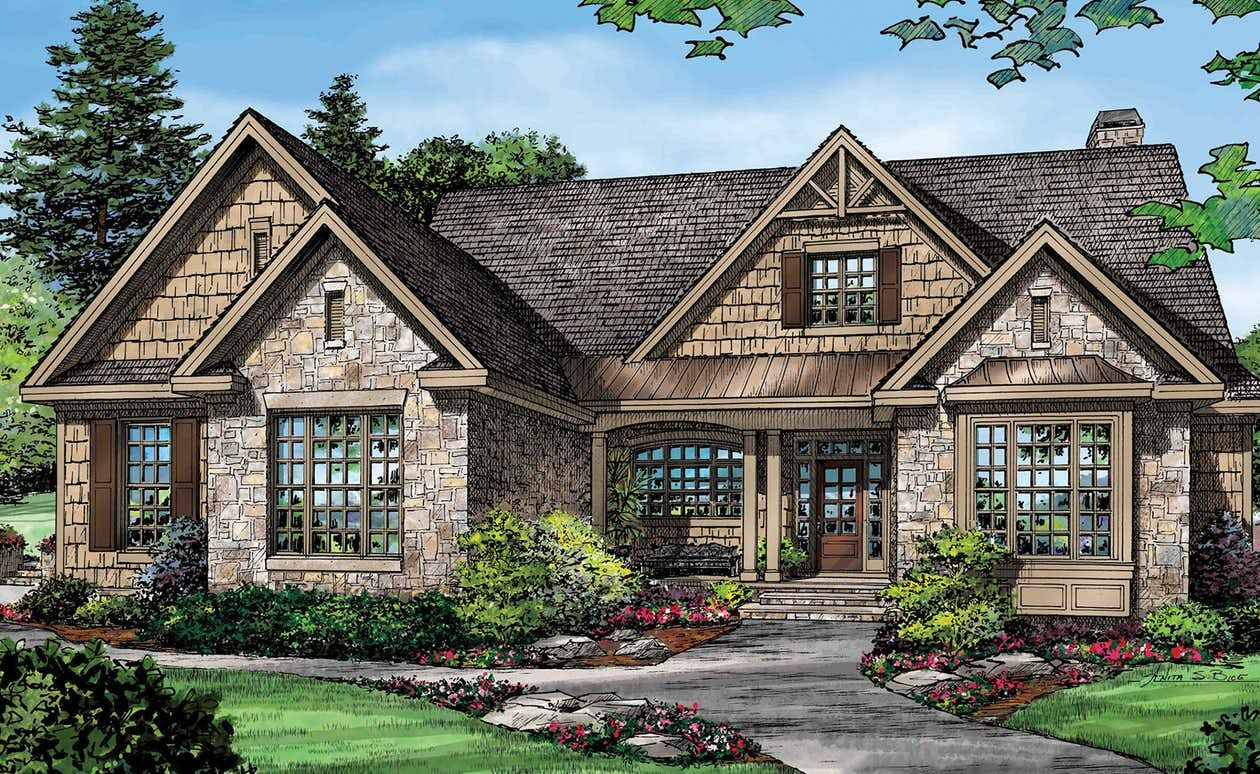 Home plan: Efficient European style in 2019   Craftsman ... on european duplex house plans, brick ranch style house plans, cottage style ranch house plans, european cottage home plans, european country house plans,