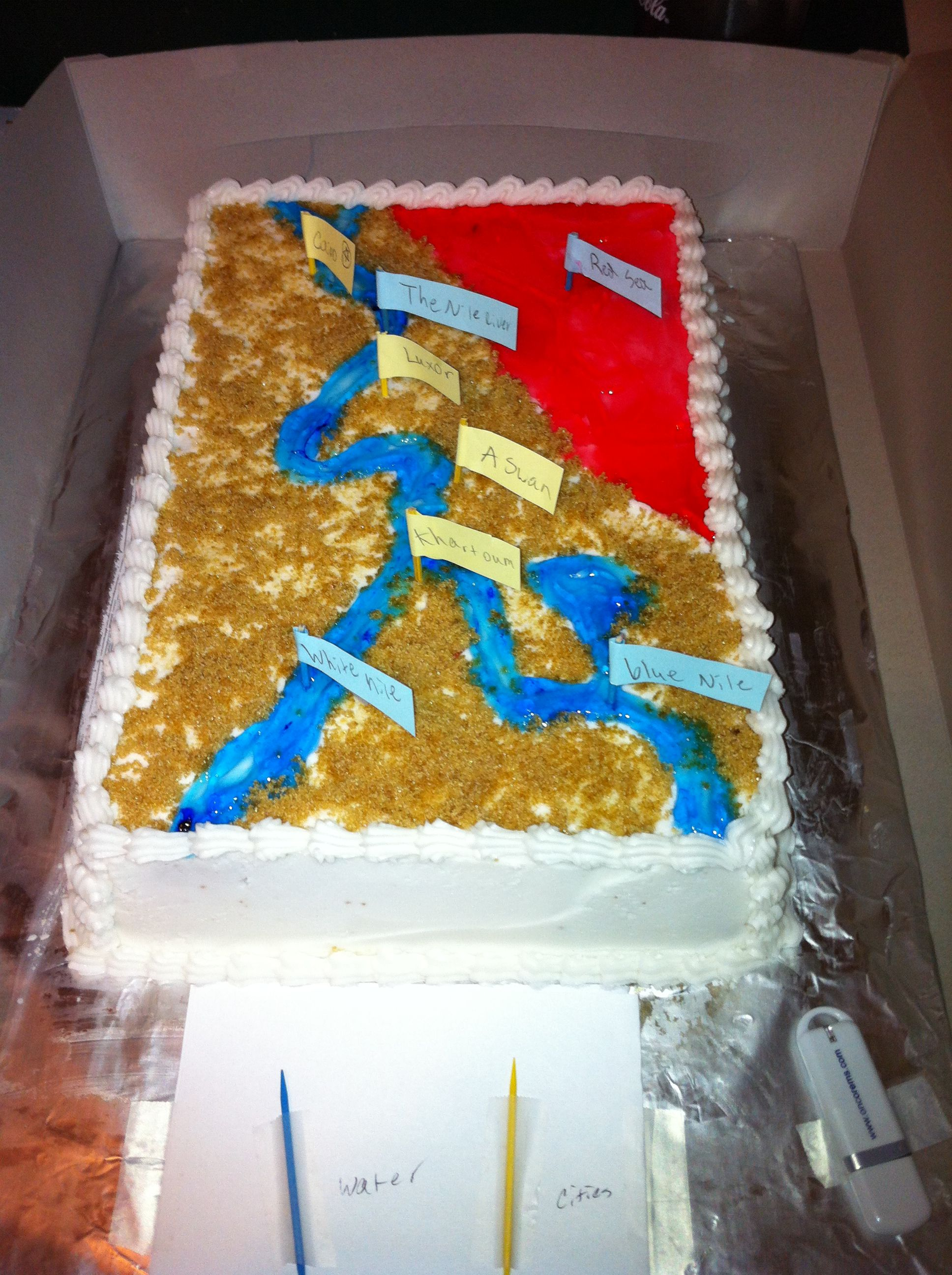 Connor S Nile River Cake For A School Project 10 15 12