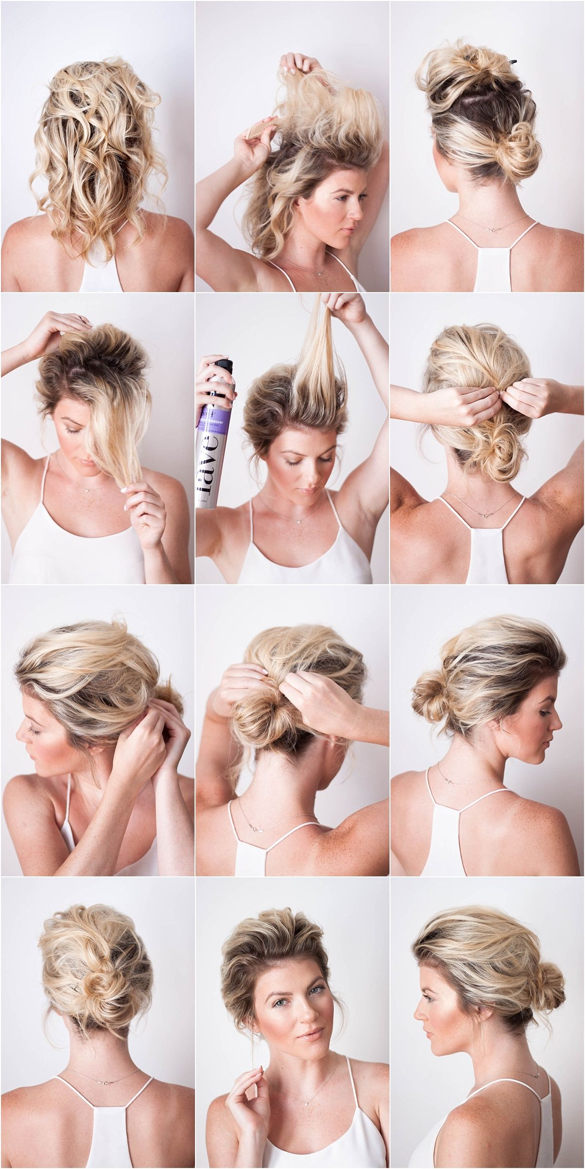 Sunkissed And Made Up Short Hair Updo Hair Styles Thin Hair Updo