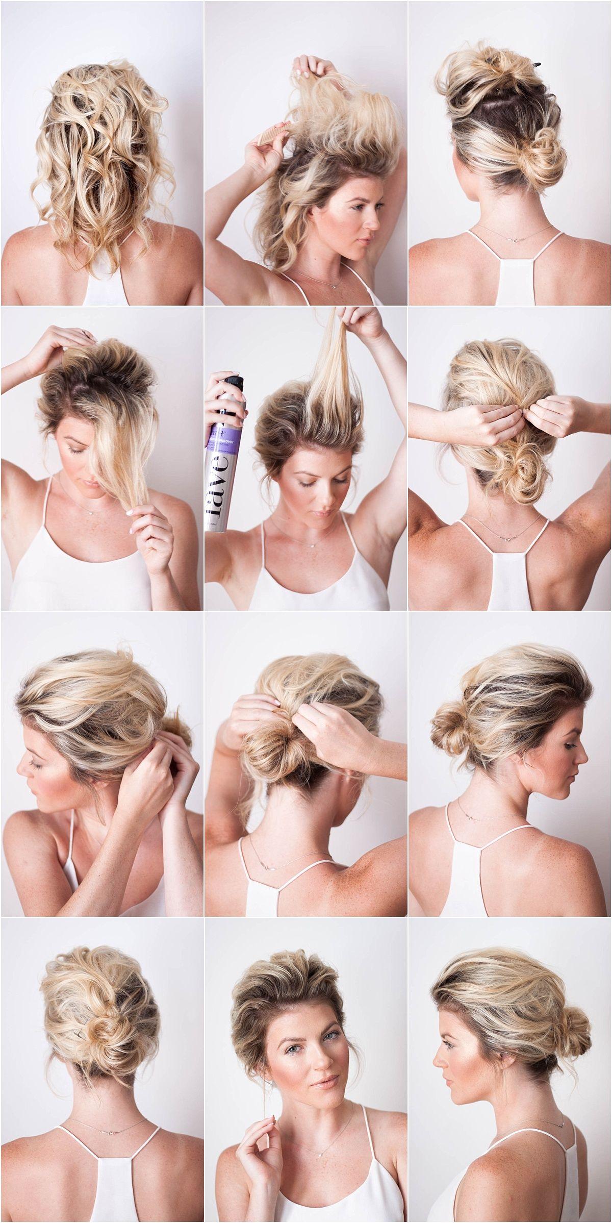 second day hairstyle | hair | messy bridal hair, short hair