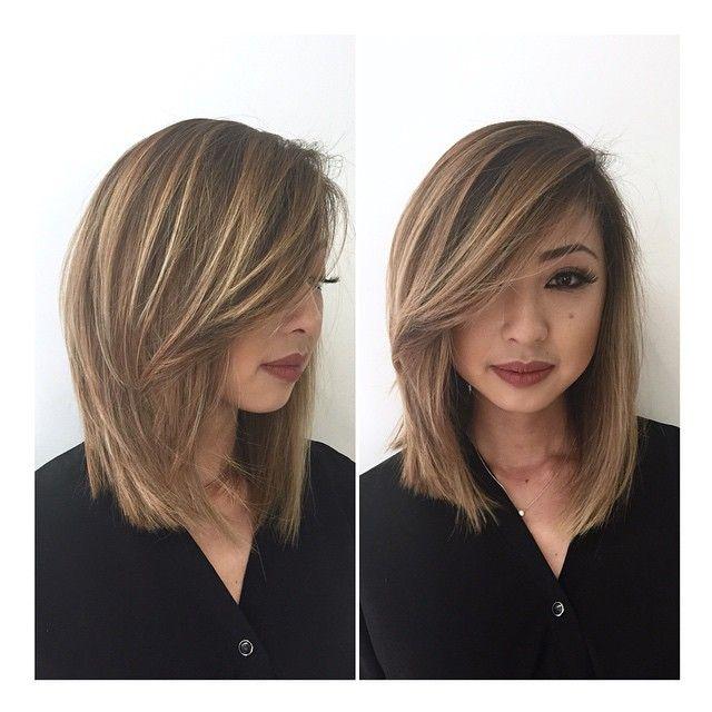 bronde lob hair