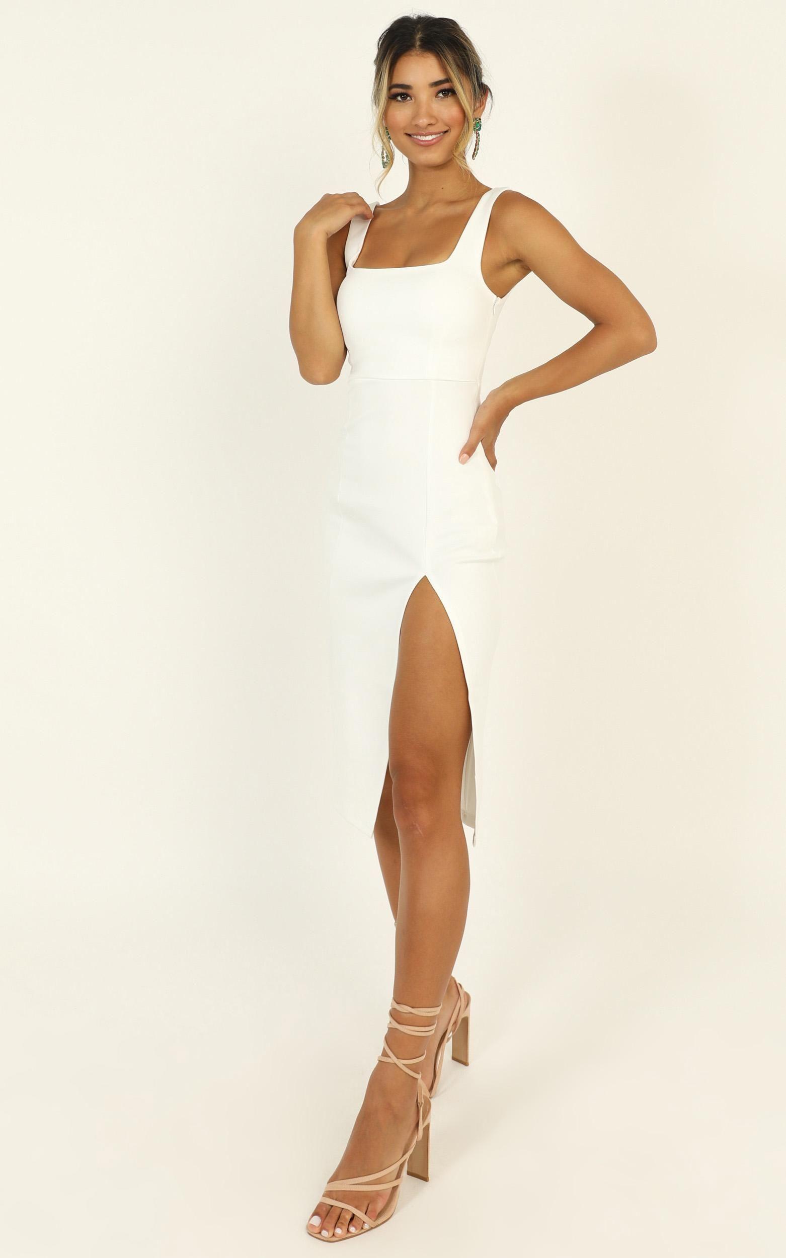 Mini Love Dress In White Showpo Bachelorette Outfits Bachelorette Party Dress White Cocktail Dress [ 2500 x 1562 Pixel ]