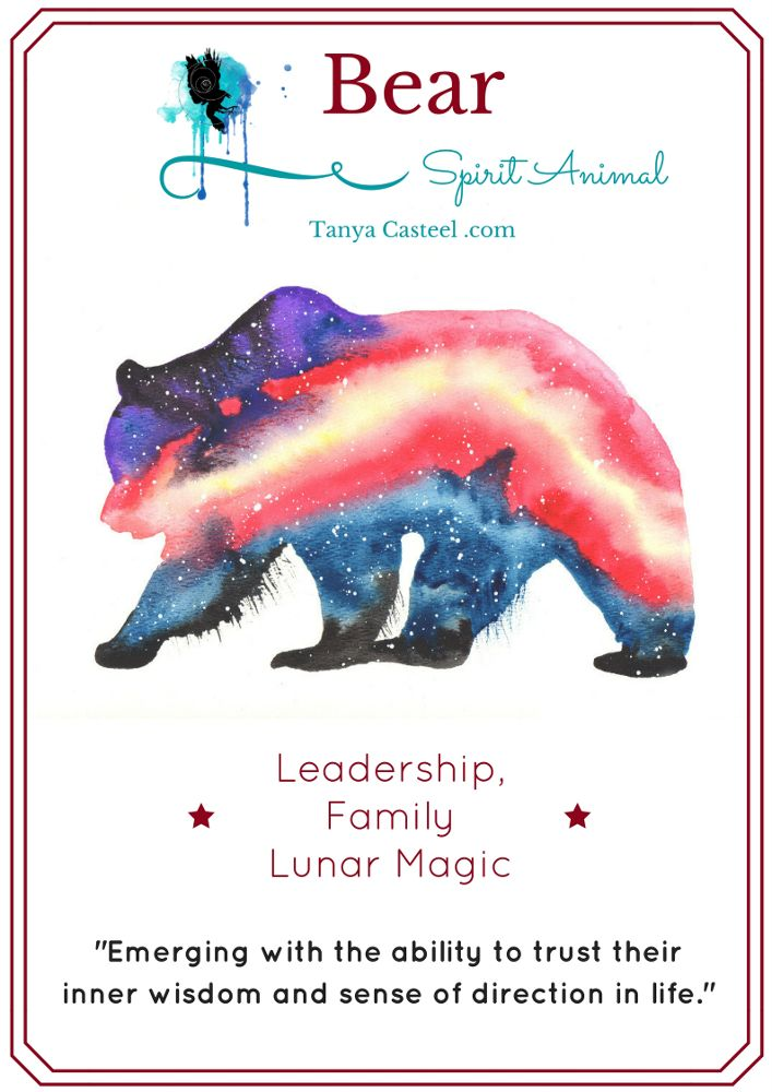 Bear Spirit Animal Symbolism Meaning And Watercolor Painting By