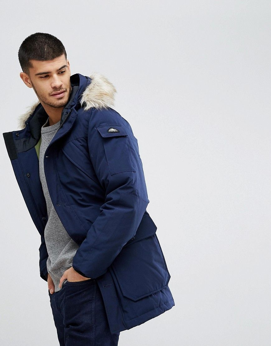 8e29f17a1ac3 PENFIELD HOOSAC DOWN INSULATED PARKA JACKET DETACHABLE FAUX FUR TRIM IN  NAVY - NAVY.  penfield  cloth