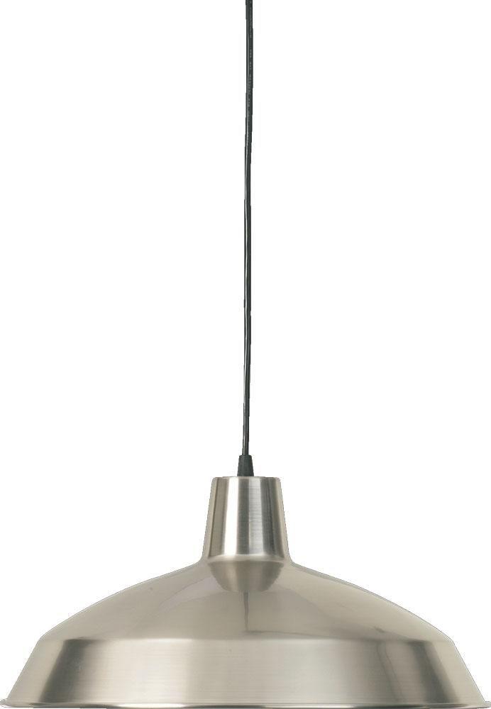 One light satin nickel down pendant ct9q hansen lighting