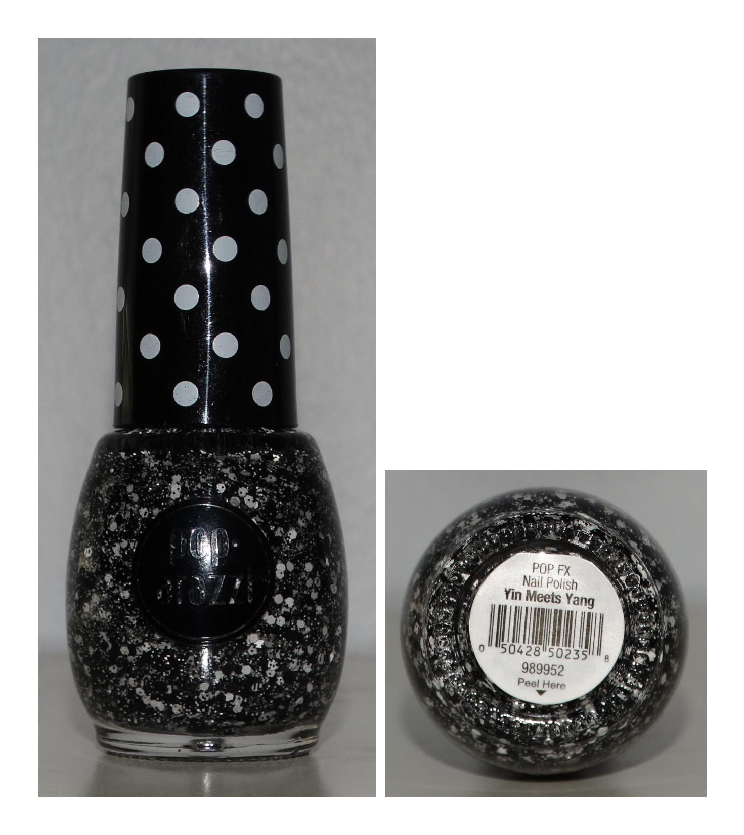 Pop-arazzi Yin Meets Yang  Black and White Glitter