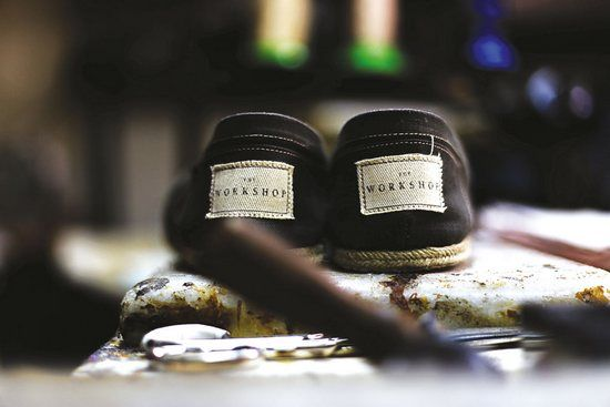 """Thomas Carlyle once said """"A man cannot make a pair of shoes rightly unless he do it in a devout manner."""" THE WORKSHOP honors that belief by crafting handmade shoes since 1938."""