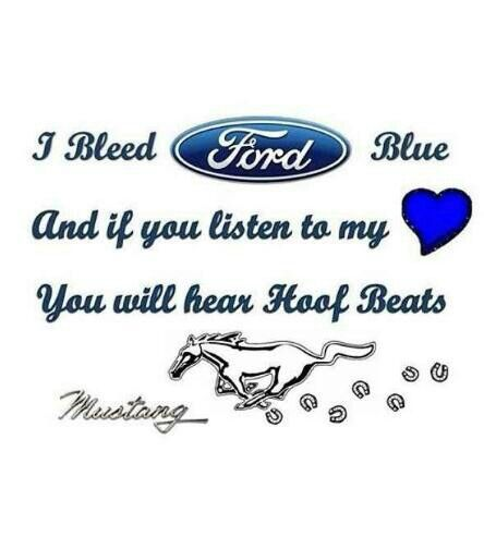 I Bleed Ford Blue Mustang Cars