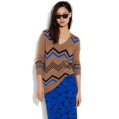Madewell is so awesome. Gotta wear shades with this super cool chevron  sweater.