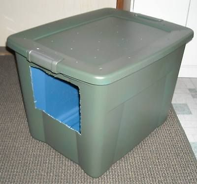 How To Make Your Own Jumbo Size Covered Cat Litter Box Litter box