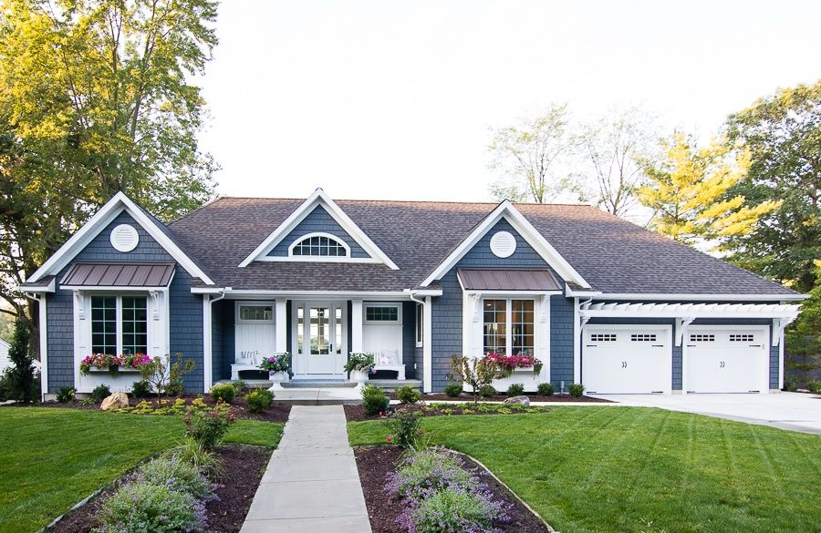 New House Tour With Images Lake Houses Exterior Gray House
