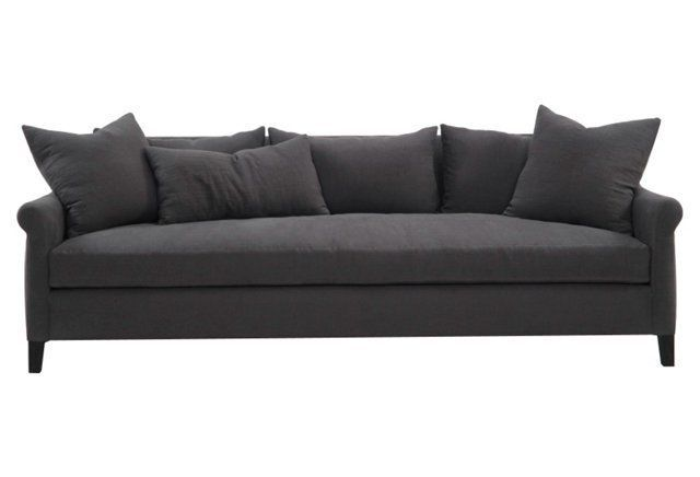 Tove 100 Linen Sofa Smoke Gray 3 699 The Perfect Couch I Just Don T Like The Color Wah Wah Sofa Linen Sofa Furniture