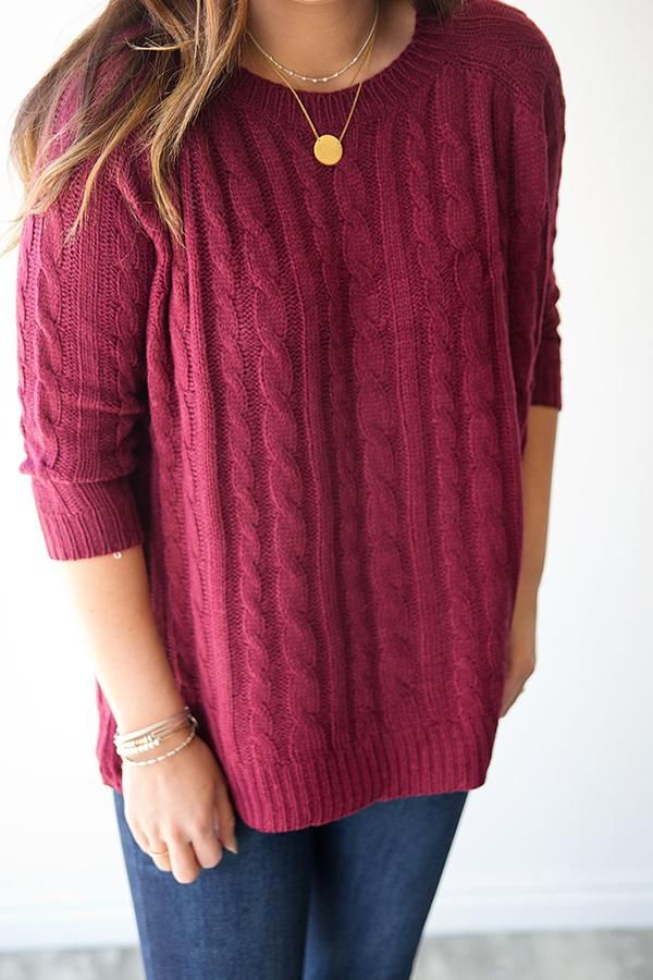 Milly Cable Knit Sweater Burgundy Cable Knit Sweaters Cable