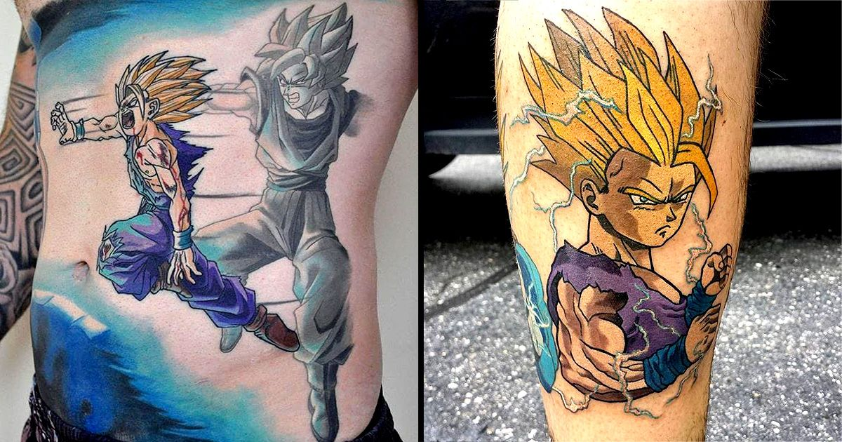 10 Powerful Gohan Tattoos Dragon Ball Tattoos For Guys Tattoos