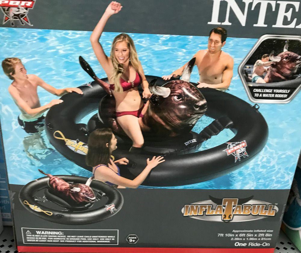 Intex Inflatabull Rodeo Bull Ride On Float Mega Inflatable Pool Lake Toy Intex