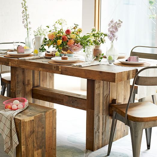 emmerson® reclaimed wood dining table | reclaimed wood dining table