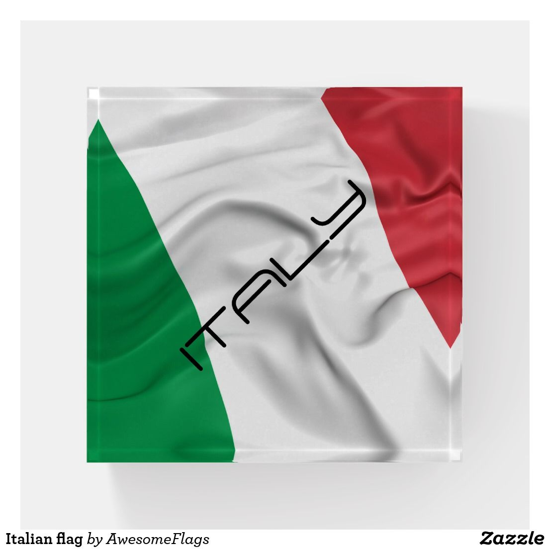 Italy Flag Business Card Holder