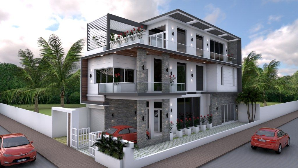 Sketchup bedrooms home design plan this villa is modeling by sam architect with stories level   has bedroomsetchup also best interior images in rh pinterest