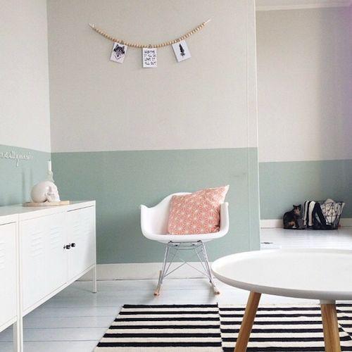 Babykamer Muur Ideeen.Halfway Painted Wall Ideeen Voor Thuisdecoratie Woonkamer